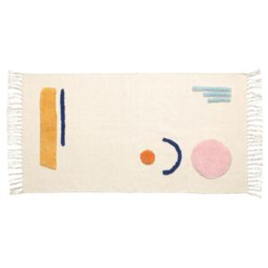 Covor multicolor din bumbac 65x120 cm Magumi Kave Home