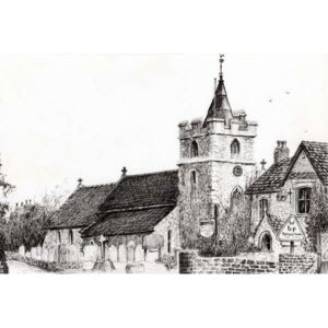 Brighstone Church I.O.W., 2008, Reproducere, Vincent Alexander Booth