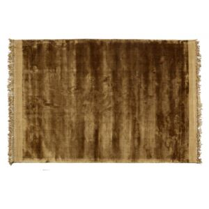 Covor galben din viscoza si bumbac 170x240 cm Ravel Be Pure Home