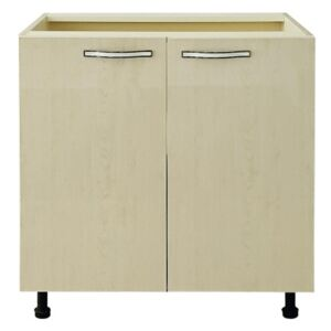 Corp inferior 2 usi Napoli Maple pal vanilie/ MDF Maple ( artar), 80 x 52 x 82 cm