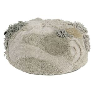 Puf rotund multicolor din bumbac 30 cm Mossy Rock Lorena Canals