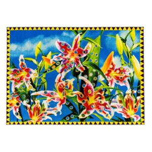Covor multicolor din bumbac si poliester 200x280 Flower with Holes Toiletpaper Seletti
