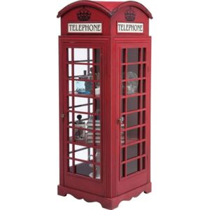 Vitrină Kare Design London Telephone, înălțime 140 cm