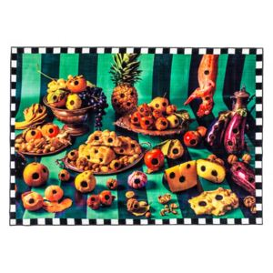 Covor multicolor din poliester si bumbac 200x280 cm Food with Holes Toiletpaper Seletti