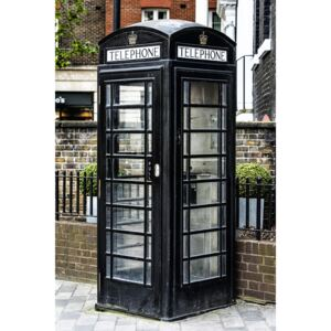 Fotografii artistice Old Black Telephone Booth, Philippe Hugonnard
