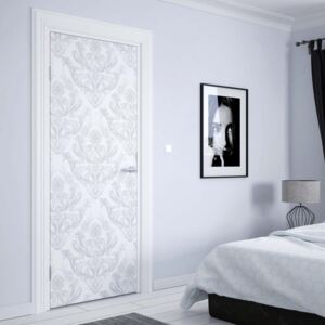 Tapet GLIX - Floral Pattern White And Grey variant 1 | 91x211 cm