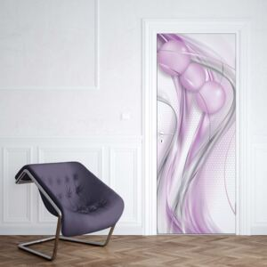 Tapet GLIX - Modern Abstract 3D Design Silver And Purple1 | 91x211 cm