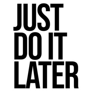 Ilustrare Just do it later, Finlay Noa