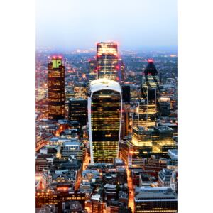 Fotografii artistice View of City of London with The Walkie-Talkie and The Gherkin Buildings, Philippe Hugonnard