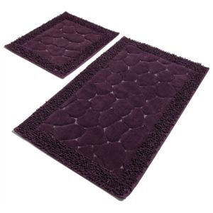 Set 2 covorase baie bumbac, Alessia Home, Stone - Purple