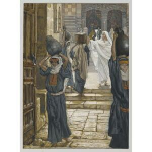 Jesus Forbids the Carrying of Loads in the Forecourt of the Temple, illustration from 'The Life of Our Lord Jesus Christ', 1886-94 Reproducere, James Jacques Joseph Tissot