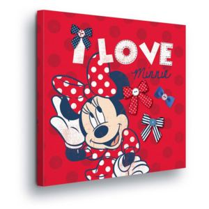 GLIX Tablou - Disney Minnie Mouse in Red II 80x80 cm
