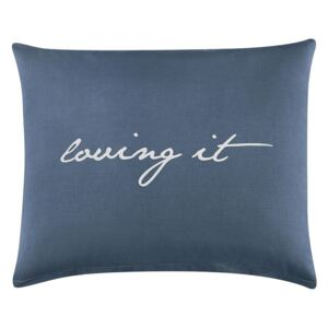 Față de pernă LOVING IT 50x60 cm – Dark Blue/White (față de)