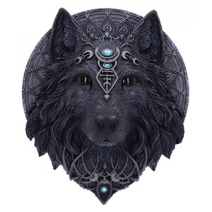 Placheta decorativa perete Wolf Moon