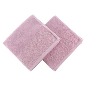Set Prosoape De Maini Soft Kiss Burumcuk Dusty Rose, 100% bumbac, 2 bucati, roz, 50x90 cm