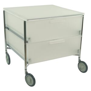 Roll box-uri Kartell - Mobil Chest of Drawers - with wheels, 2 drawers, ice-colour