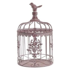 Colivie decor metalica Antique Rose 30 cm