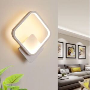 Aplica Square Alb LED