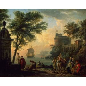Seaport, 1763 Reproducere, Claude Joseph Vernet