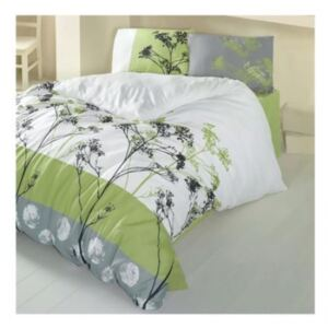 Lenjerie pat dublu Bellezza Verde , Mally Home, Polycotton