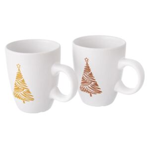 Set de 2 căni ceramice MERRY, 140 ml