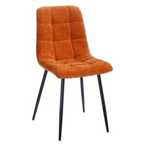 Scaun dining portocaliu din catifea Orange Dining Chair
