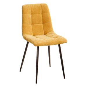 Scaun dining galben din catifea Yellow Dining Chair