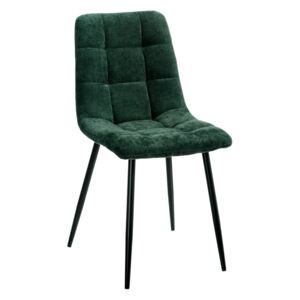 Scaun dining verde inchis din catifea Dark Green Dining Chair