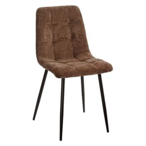 Scaun dining maro din catifea Brown Dining Chair