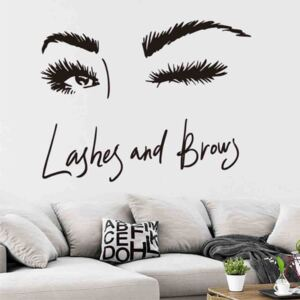 Sticker perete Salon Eyelashes 1