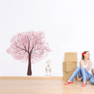 Sticker perete Pink Tree Deer