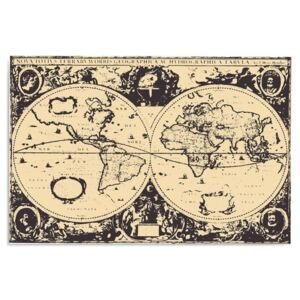 Tablou CARO - Vintage World Map 40x30 cm