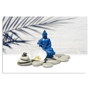 Tablou CARO - Blue Buddha On Stones 40x30 cm