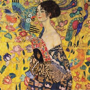 Reproducere tablou Gustav Klimt - Lady with Fan, 60 x 60 cm