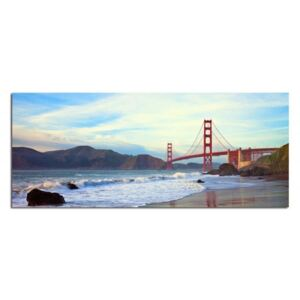 Tablou CARO - Golden Gate Bridge 50x20 cm
