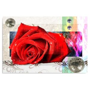 Tablou CARO - Red Rose 40x30 cm