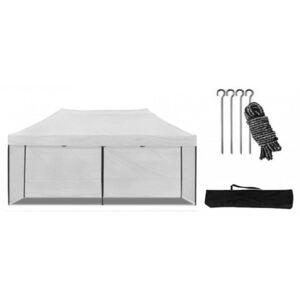 Cort pavilion 3x6 m alb All-in-One