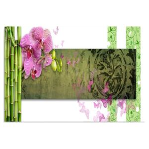 Tablou CARO - Orchid And Bamboos 40x30 cm