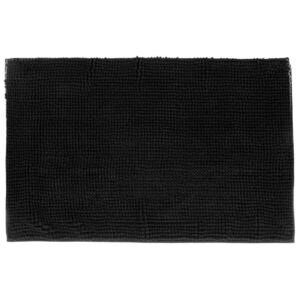 Covoras de baie TAPIS MINI CHENILLE 5five Simple Smart, 50x80 cm, Negru