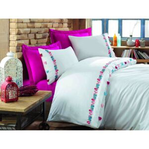 Exclusive Lenjerie de Pat Bumbac Satin Double - Valeria Fuschia