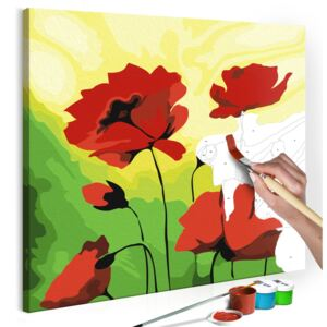 Bimago Pictura pe numere - Poppies