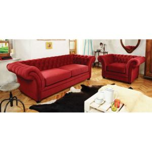 Canapea chesterfield extensibila LONDON CHESTERFIELD rosie
