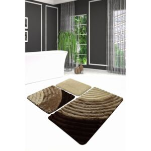 Set 3 covorase baie acril, Alessia Home, Well Caramel