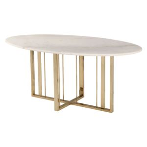 Masa dining de marmura Fenty Dining Table Polished Brass