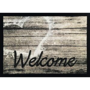 Covoras intrare Welcome Wood gri 50x70 cm