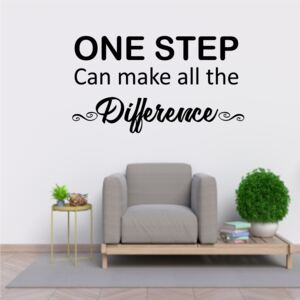 Sticker perete One Step can the the Difference
