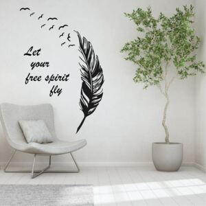Sticker perete Let your free spirit fly