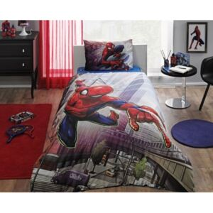 Lenjerie de pat TAC Disney 3 piese Spiderman Action
