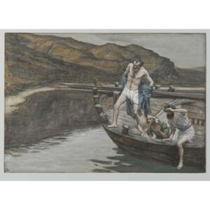 Saint Peter Alerted by Saint John to the Presence of the Lord Casts Himself into the Water, illustration from 'The Life of Our Lord Jesus Christ', 1886-94 Reproducere, James Jacques Joseph Tissot
