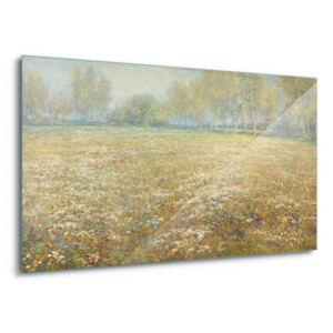 GLIX Tablou pe sticlă - Meadow In Bloom, Egber Schaap. 4 x 30x80 cm